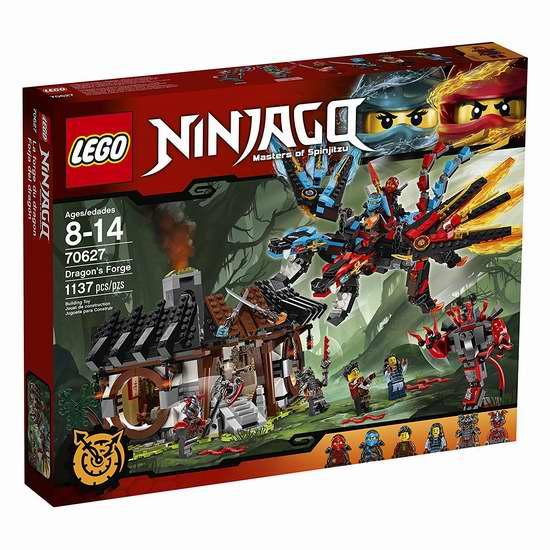 LEGO 乐高 70627 幻影忍者系列 双元素神龙的秘密基地积木套装(1137pcs) 79.99加元包邮!