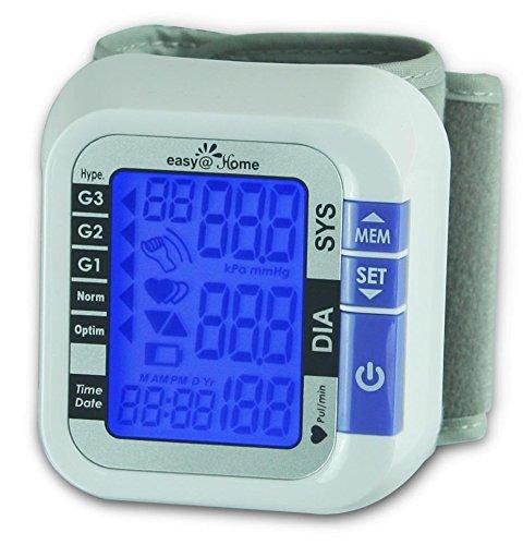 历史新低!Easy@Home EPM-017 数字腕式电子血压计 25.2加元限时特卖!
