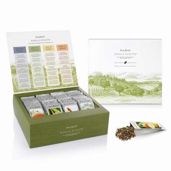 Tea Forte  红茶+绿茶+白茶+凉茶 28袋套装 30.3加元限量特卖并包邮!