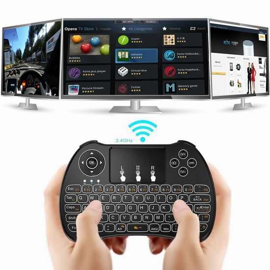 Tripsky 触摸板无线多媒体 LED背光 迷你键盘 16.99加元限量特卖!