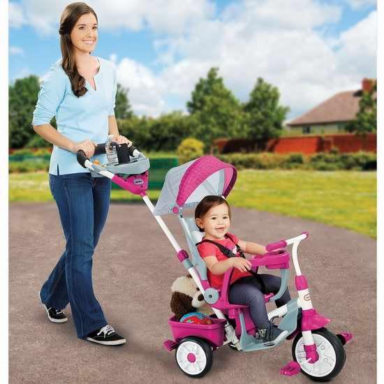 Little Tikes 小泰克 Perfect Fit 四合一 粉红色儿童三轮车 105.54加元限量特卖并包邮!