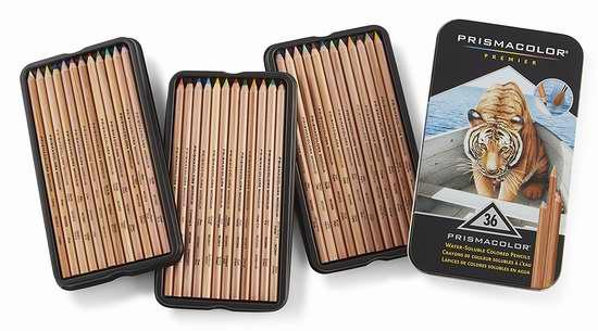 PRISMACOLOR 4066 专业水溶性彩色铅笔36色 29.99加元限时特卖并包邮!