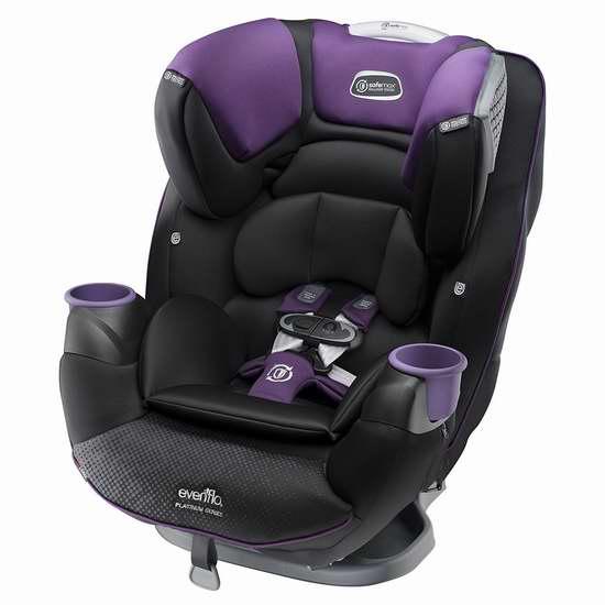 历史新低!Evenflo Platinum SafeMax 成长型儿童汽车安全座椅 249.99加元包邮!