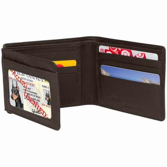 Access Denied RFID 防盗男士真皮钱包3.1折 19.99加元限量特卖并包邮!两色可选!