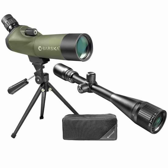 历史新低!Barska Long Range Varmint 单筒望远镜+猎枪瞄准镜套装2.3折 71.54加元限时清仓并包邮!