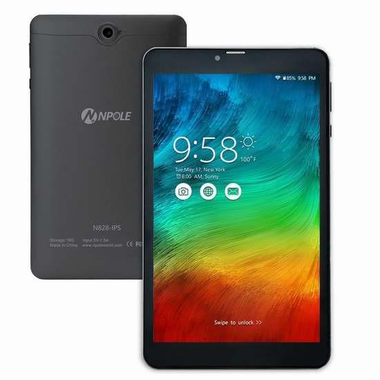 NPOLE 8英寸双卡双待3G手机双频平板电脑 89.7加元限量特卖并包邮!