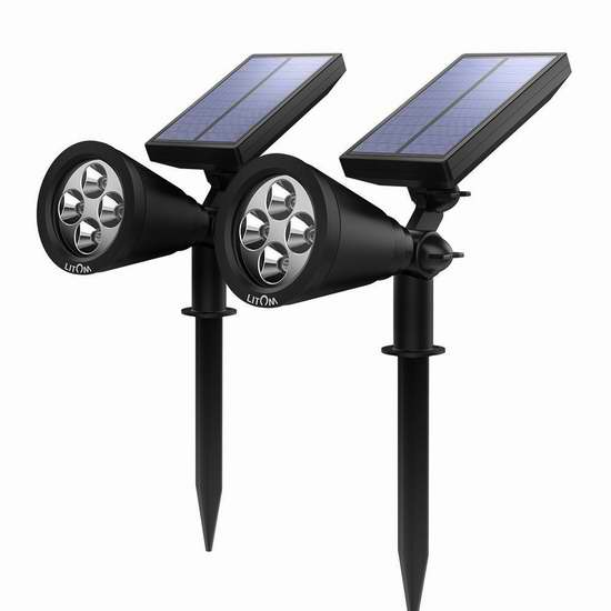 Litom Soleil P2 超亮太阳能室外照明灯5.3折 27.19加元限量特卖并包邮!