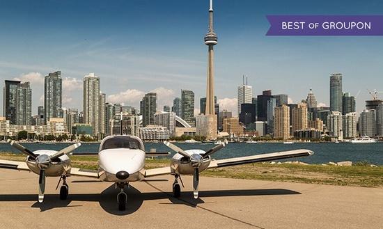 Greater Toronto Airways 观光小飞机100公里双人游+香槟 131加元限时特卖!