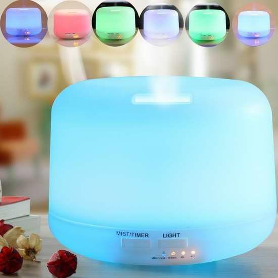 Aoonar 300mL 超静音精油香薰/加湿器,内置7彩液晶灯 23.79加元限量特卖!