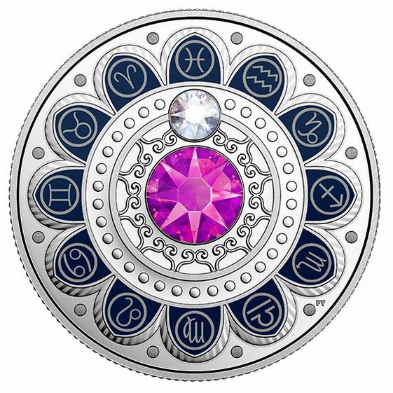 2017 施洛华世奇水晶 Zodiac系列 双鱼座 纯银纪念币 54.95加元销售并包邮!