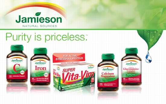 精选74款 Jamieson 健美生 全天然营养保健品特价销售!