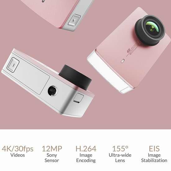 Xiaoyi 小蚁 Yi 4K 超高清运动相机 259加元限量特卖并包邮!3色可选!