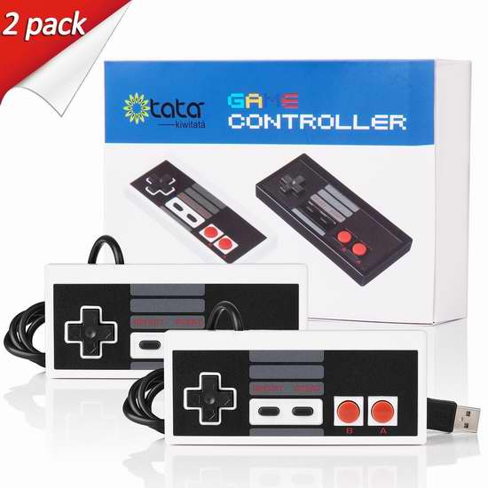 kiwitatá FC NES 红白机 经典版USB游戏手柄2件套 16.14加元限量特卖!
