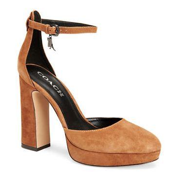 精选2款 Coach 女士时尚高跟鞋2.7折限时清仓!4色可选!