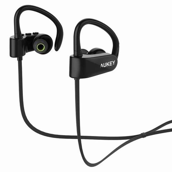 Aukey EP-B22-B 蓝牙4.1无线立体声耳机 17.99加元限量特卖并包邮!