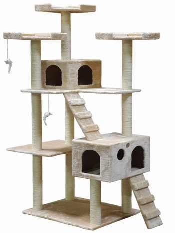 历史新低!Go Pet Club F2040-Beige 72英寸猫树公寓/猫爬架 117.99加元限时特卖并包邮!