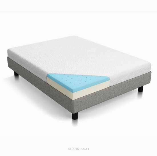 近史低价!Lucid 8英寸双层记忆海绵 Queen 中等偏硬床垫 280.99加元包邮!