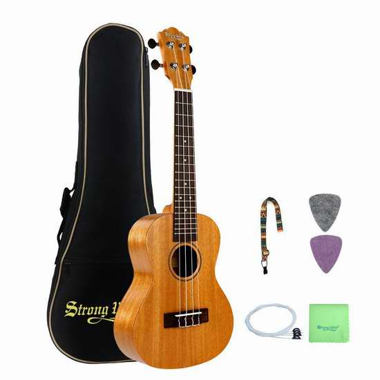 Strong Wind Mahogany Concert 23英寸专业 Ukulele 夏威夷小吉他/尤克里里3.3折 67.99加元限量特卖并包邮!