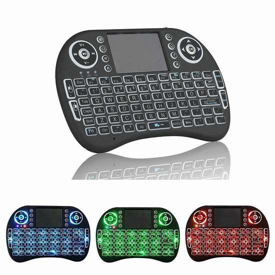 PoWise 2.4 GHz 触摸板无线多媒体 LED背光 迷你键盘 19.53加元限量特卖!