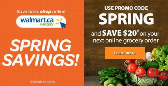 Walmart 网购食品、日用杂货、尿不湿、奶粉、保健品、蔬菜水果、肉类等,满50加元立省20加元!