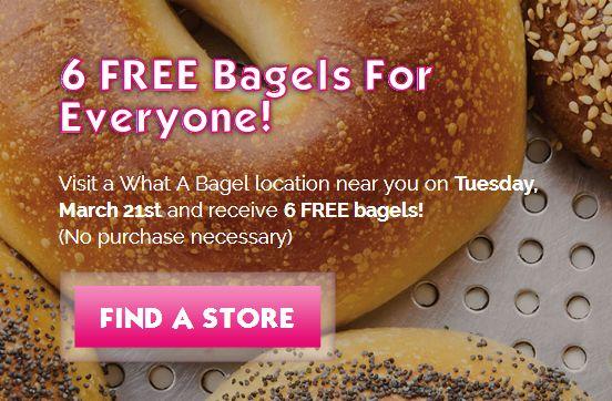 What a Bagel 答谢消费者,3月21日赠送6个价值5.94元 Bagel 硬面包圈,无需购物!