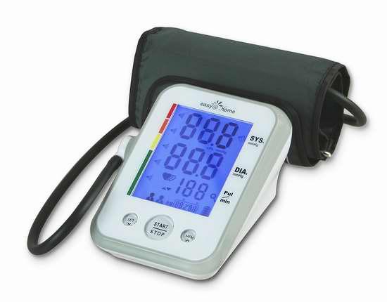 Easy@Home EBP-095 上臂数字式电子血压计 33.2加元限量特卖并包邮!