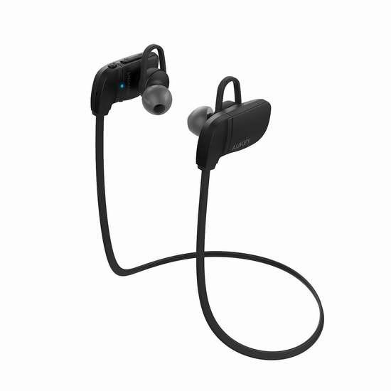 历史新低!AUKEY EP-B27-Black-CA 蓝牙无线运动耳机2.5折 9.99加元清仓!