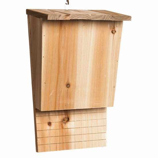 蚊子的超级克星!Gifted Living 木质蝙蝠屋 17.8加元限量特卖!