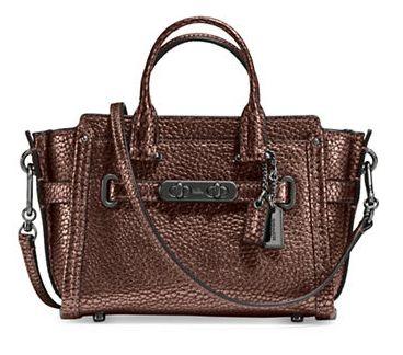 COACH Swagger 15 女士时尚真皮单肩/手提包3.9折 118.12加元限时特卖并包邮!