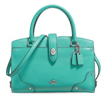 COACH Mercer Grain 女士时尚真皮手提包3.9折 137.8加元限时特卖并包邮!