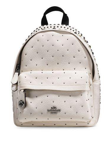 COACH Bandana Rivets 白色迷你背包3.9折 185.06加元限时特卖并包邮!