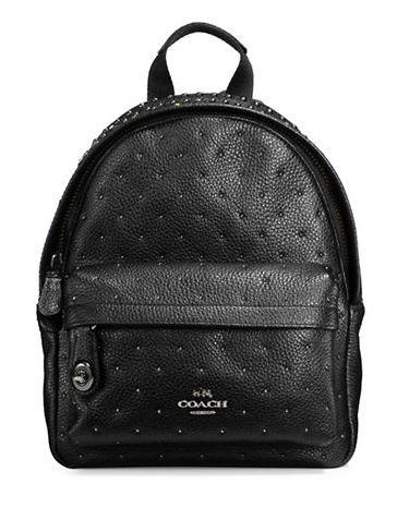 COACH Bandana Rivets 黑色迷你背包3.9折 185.06加元限时特卖并包邮!