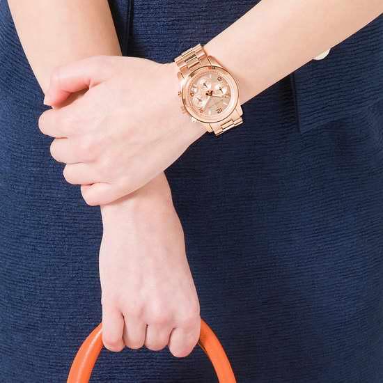 历史新低!Michael Kors MK5128 女士玫瑰金三眼计时腕表 133加元限量特卖并包邮!