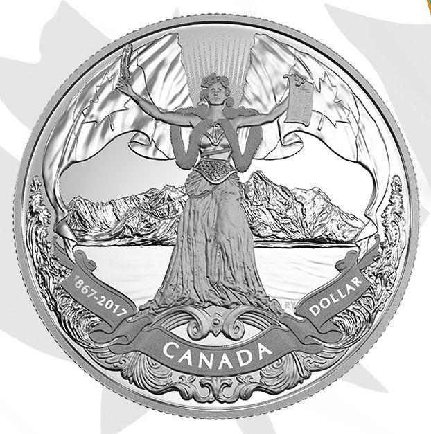 最畅销款 2017加拿大国庆150周年 Proof Dollar 纯银纪念币 59.95加元销售并包邮!