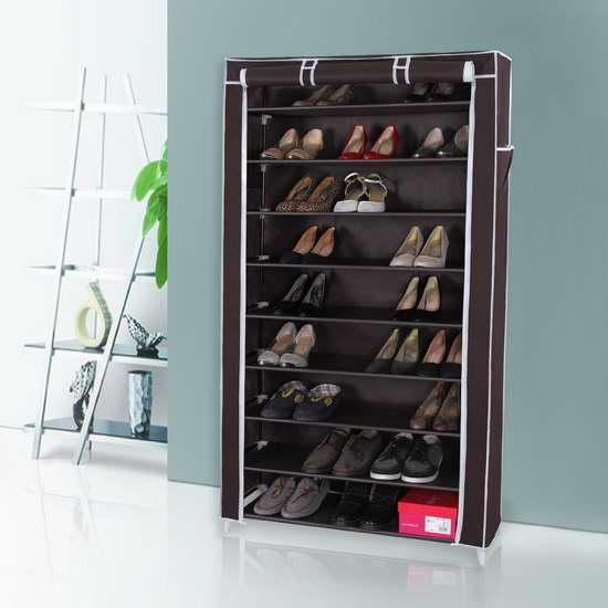 Songmics 10层1.6米超大容量简易鞋柜 28.04加元限量特卖!