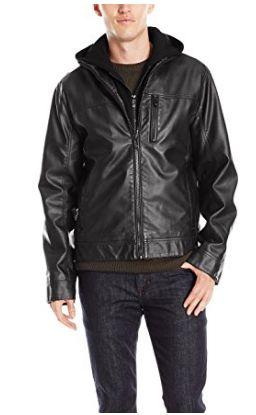 Calvin Klein 男式时尚人造革皮夹克(S、XL码)2.4折 59.48加元起限时清仓并包邮!两色可选!