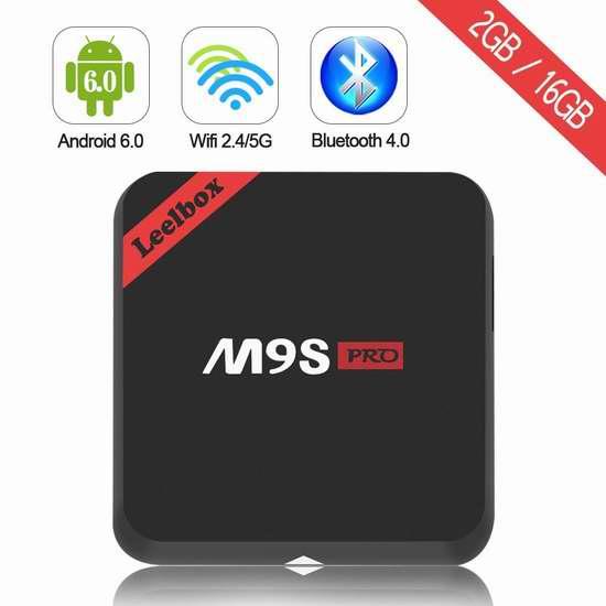 Leelbox M9S Pro 4K超高清双频千兆四核流媒体播放器/网络电视机顶盒 109.99加元限量特卖并包邮!