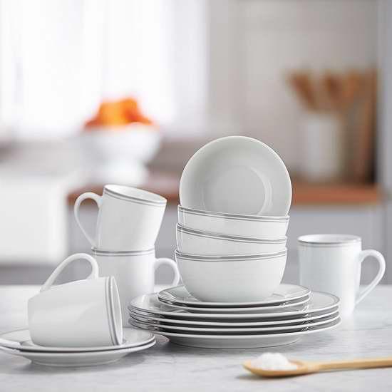 AmazonBasics 高级陶瓷餐具16件套 50加元,原价 82.43加元,包邮