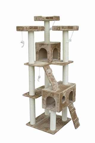 历史新低!PawHut 71英寸多层猫树公寓/猫爬架 103.99加元限时特卖并包邮!
