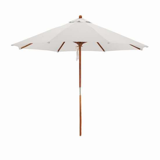California Umbrella 9英尺庭院遮阳伞2.7折 33.8加元!