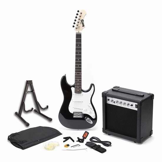 金盒头条:历史新低!RockJam RJEGPKG 全尺寸电吉他+扩音器超级套装 119.99加元限时特卖并包邮!
