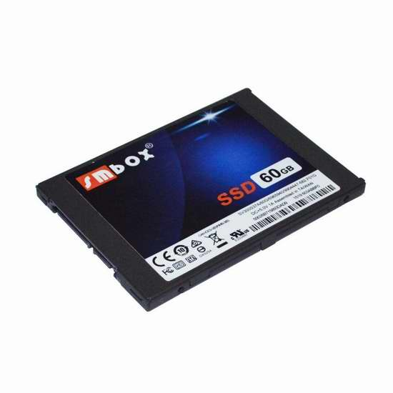 SMBOX 7毫米超薄 SATA 3 2.5英寸60GB固态硬盘 36.54加元限量特卖并包邮!