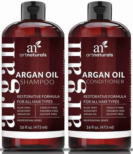 Art Naturals 100%纯天然有机摩洛哥坚果油 洗发液+护发素2件套 24.6加元限量特卖并包邮!