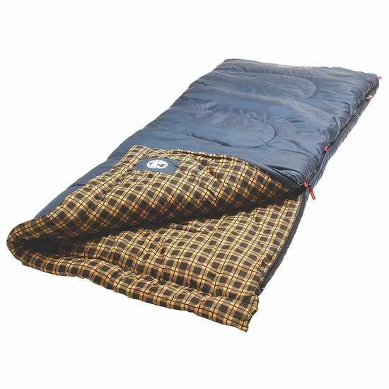 历史新低!Coleman Lowland 15 零下18度户外保暖睡袋2.4折 26.84加元限时特卖!