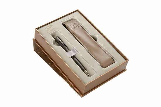 历史新低!Parker 派克 Sonnet 卓尔 1935162 纯黑丽雅金夹原子笔+笔套礼盒装2.4折 37.4加元限时清仓并包邮!