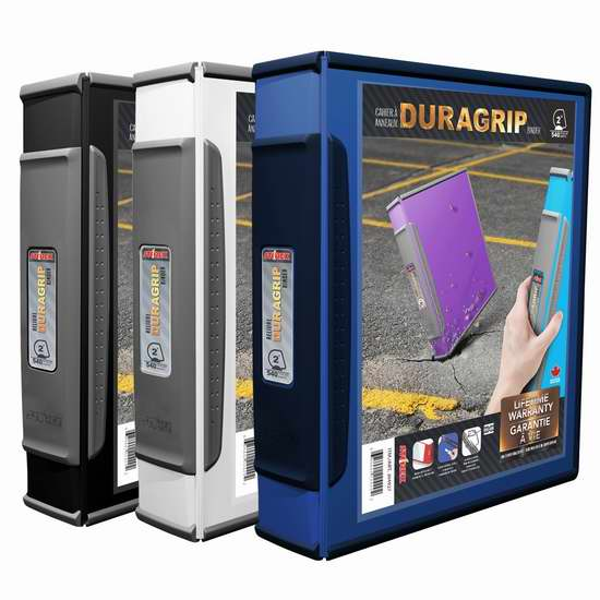 Storex DuraGrip D环文件夹6件套超值装2.9折 29.49加元限时清仓!
