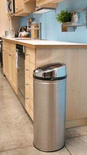 iTouchless IT08RCB 30升 感应式不锈钢垃圾桶 80.7加元限时特卖并包邮!