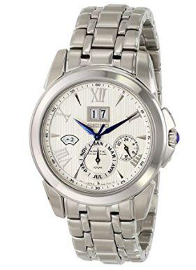 历史新低!Seiko 日本精工 SNP065 男士人动电能万年历手表/腕表 356.84加元限时特卖并包邮!