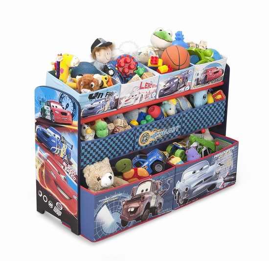 历史最低价!Delta Children 汽车总动员 豪华儿童玩具收纳架 49.97加元限时特卖并包邮!