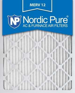 Nordic Pure 16x25x1M12-12 MERV12 防过敏空调暖气炉过滤网(16x25x1英寸 12件套)4.6折 87.56加元限时特卖并包邮!